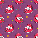 Vector seamless pattern with baby potty Royalty Free Stock Photo
