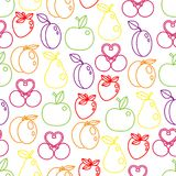 Vector seamless pattern of background with fruits. Vector seamless pattern of color background with fruits Royalty Free Stock Image