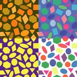 Vector seamless pattern, background of geometric shapes Royalty Free Stock Photo