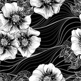 Vector seamless pattern. Background pattern - floral motifs. Flowers. Use printed materials, signs, items, websites, maps, posters stock illustration