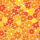 Vector seamless Pattern background. sliced halves of citrus frui. Ts oranges, tangerines, lemon. For business projects banner, cover, layout vector illustration
