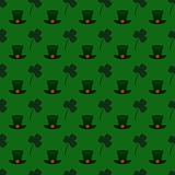 Vector seamless pattern background for St. Patrick's Day Royalty Free Stock Image