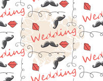 Vector Seamless Pattern Background for wedding Stock Photos