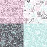 Vector seamless pattern and background for wedding invitations Stock Image