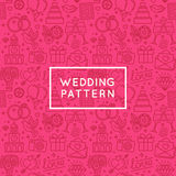 Vector seamless pattern and background for wedding invitations a Royalty Free Stock Images