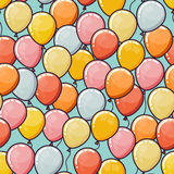 Vector seamless pattern with balloons. Vector seamless pattern with ballons. Happy Birthday background Stock Image