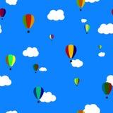 Vector Seamless Pattern. Balloons. EPS10. Royalty Free Stock Photo