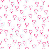 Vector seamless pattern with balloons in the form of hearts Stock Photography