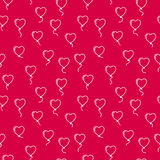Vector seamless pattern with balloons in the form of hearts Royalty Free Stock Image
