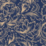 Vector seamless pattern in Baroque style. Royalty Free Stock Photography