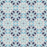 Vector seamless pattern, based on traditional wall and floor til. Es Mediterranean style Stock Photography