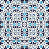 Vector seamless pattern, based on traditional wall and floor til. Es Mediterranean style Stock Image