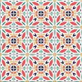 Vector seamless pattern, based on traditional wall and floor til Stock Illustration