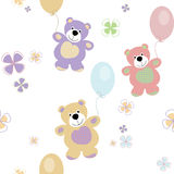 Vector seamless pattern with bears Royalty Free Stock Photography