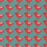 Vector seamless pattern with beautiful animal birds Royalty Free Stock Photos