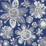Vector seamless pattern with beautiful flowers. Royalty Free Stock Image