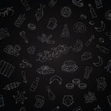 Vector seamless pattern of beer icons Stock Images