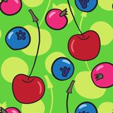 Vector seamless pattern with berries Royalty Free Stock Photography