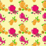 Vector seamless pattern with berry jam Stock Images