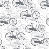 Vector seamless pattern bicycles. Texture Royalty Free Stock Photo