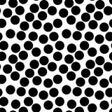 Vector seamless pattern, big black chaotic dots Royalty Free Stock Images