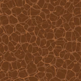 Vector seamless pattern - bio net. Brown nature square texture Stock Photography
