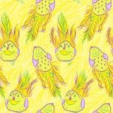 Vector seamless pattern with bird Stock Photos