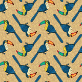 Vector seamless pattern with birds Stock Photography