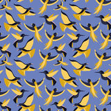 Vector seamless pattern with birds in flat style Stock Photos