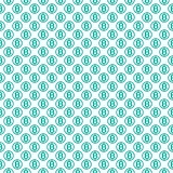 Vector seamless pattern with bitcoins. Cryptocurrency repeating background Stock Image