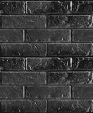 Vector seamless pattern of black brick wall. Royalty Free Stock Photography