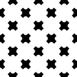 Vector seamless pattern, black crosses Royalty Free Stock Image
