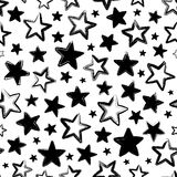 Vector seamless pattern with black stars Stock Photo