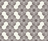 Vector seamless pattern. Black and white abstract background. Stock Images