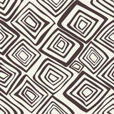 Vector seamless pattern. Black and white abstract background. Vector seamless pattern with rhombuses. Abstract background made using of brush smears. Monochrome Stock Illustration