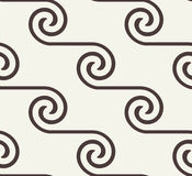 Vector seamless pattern. Black and white abstract background. Seamless pattern with spiral curls. Vector repeating texture. Stylish background with linear stock illustration