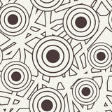 Vector seamless pattern. Black and white abstract Royalty Free Stock Photos