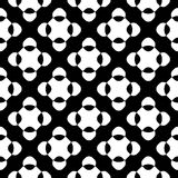 Vector seamless pattern, black & white crossing dots Royalty Free Stock Photography