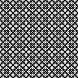 Vector seamless pattern, black & white crossing dots. Simple geometric figures. Abstract repeat endless monochrome background, dark version. Design element for Stock Photos