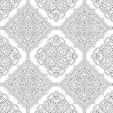 Vector seamless pattern of black and white mandala. Line art Stock Photography
