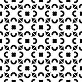 Vector seamless pattern, black & white monochrome texture Stock Images