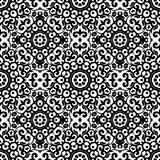 Vector seamless pattern with black and white ornament. Vintage design element in Eastern style. Ornamental lace tracery. Stock Image