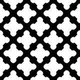 Vector seamless pattern, black & white tiles Stock Photos