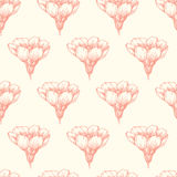 Vector seamless pattern with blooming almond Royalty Free Stock Photo