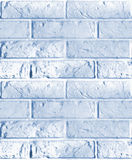 Vector seamless pattern of blue brick wall. Stock Image