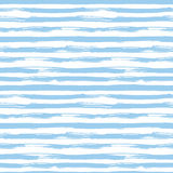 Vector seamless pattern with blue brush strokes Royalty Free Stock Photography