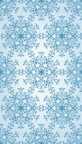Vector Seamless Pattern with Blue Snowflakes Stock Photo