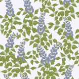 Vector seamless pattern with bluebells Stock Photos