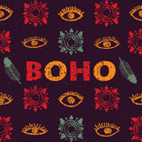 Vector seamless pattern in the boho style Royalty Free Stock Photos