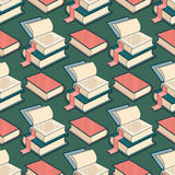 Vector Seamless pattern with book. Royalty Free Stock Images